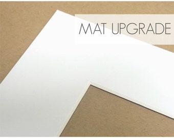 Upgrade: Add a Mat to 8x10 Prints, Photo Print Mat, Mat with Backer Board