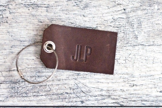 Personalized Luggage Tags Wedding Gift: Personalized Custom Leather Luggage Tags By Acheeryblossom