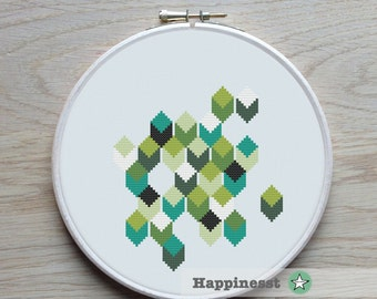 modern cross stitch pattern, geometric, PDF pattern ** instant download**