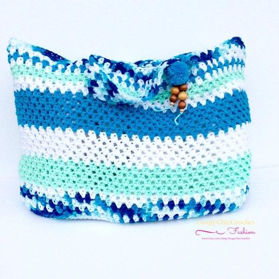 ... Cotton Tote Bag Crochet Beach Bag Reusable Market Tote Bag