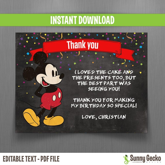 Mickey Mouse Thank You Graphics