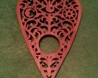 Laser cut walnut planchette (All Seeing Eye design)