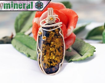 Amber Silver Pendant
