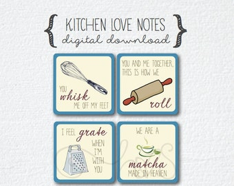 Love Note - Kitchen Puns (42 tags)