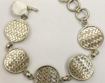 Woven Disk Bracelet
