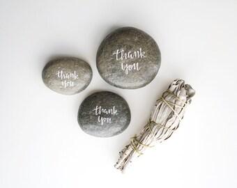 Set of 3 Handwritten Thank You Stones