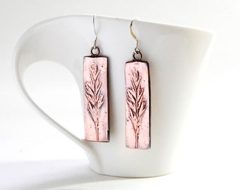 Wheat grass textured earrings *nature-inspired jewelry*