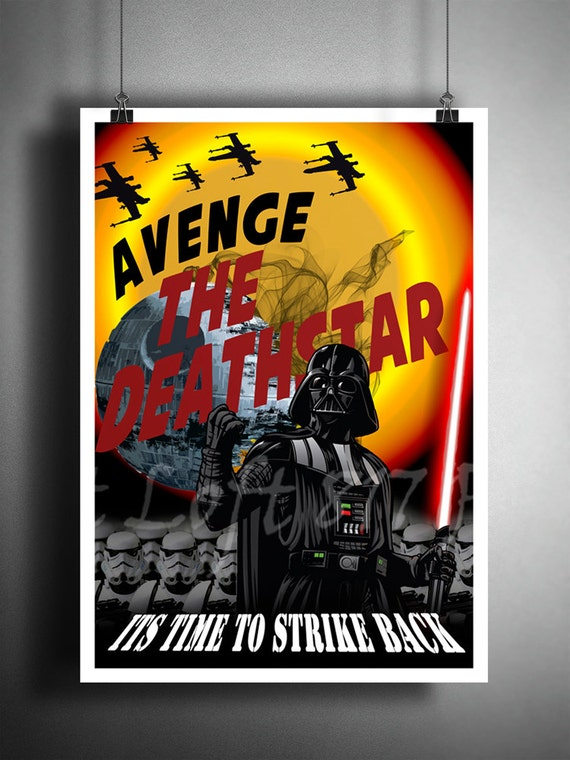Star Wars inspired Propaganda Art, Handmade