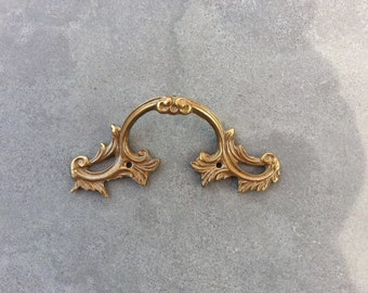 1 Vintage brass handle - Drawer pull