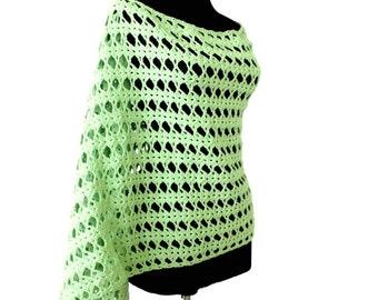 Easy crochet shawl pattern, beginner crochet pattern shawl, Crochet scarf PATTERN, scarflette pattern, wraps shawls, Instant Download /1001/