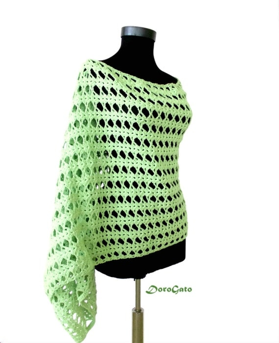 Easy Crochet Patterns For A Shawl : Easy crochet shawl pattern beginner crochet pattern shawl