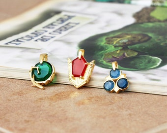 24k gold Spiritual Stone necklace from the Legend of Zelda