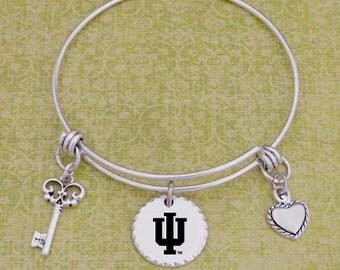 Indiana Hoosiers Disk Memory Wire Bracelet