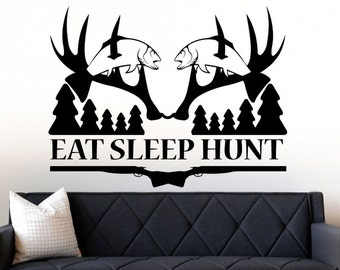 Hunting Decals Deer Hunting Wall Decal Art Decor Gift Sticker Vinyl Hunting  Decor Deer Hunting Decal Part 67