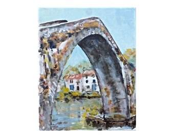 8x10 Fine Art Giclee Print - A Look Under the Bridge