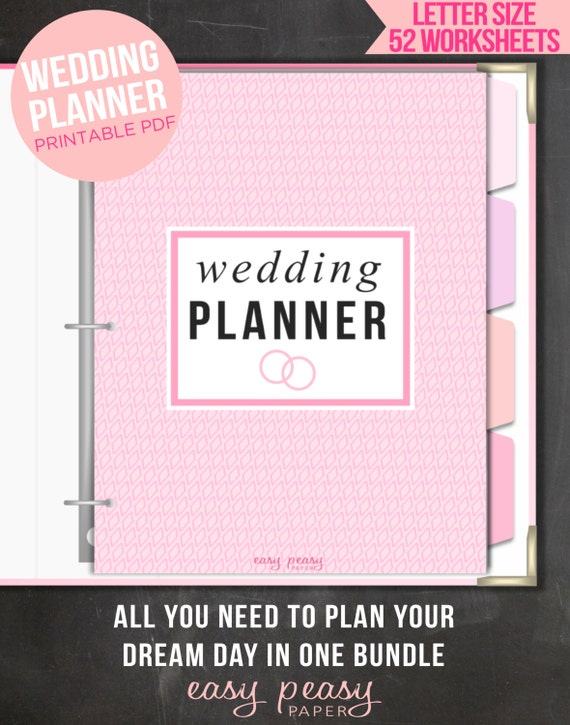 Wedding Planner PRINTABLE BONUS GIFTS Wedding Printables