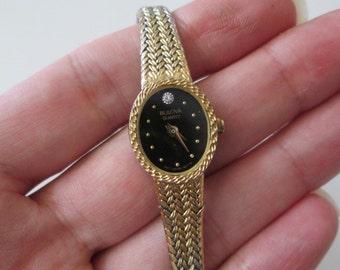 BULOVA Swiss Diamond vintage gold tone quartz Watch
