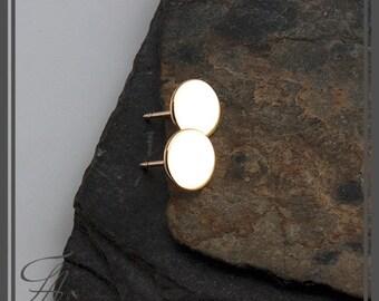 5mm Studs,Minimalist Earrings,Flat Earrings,Disc Earrings,Dot Earrings,Post Earrings,Stud Earrings,Gold Earrings,Handmade Earrings,Gift