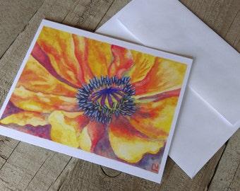 Tabernash Poppy - Flower card