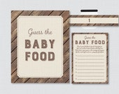 Rustic Baby Shower Game G...