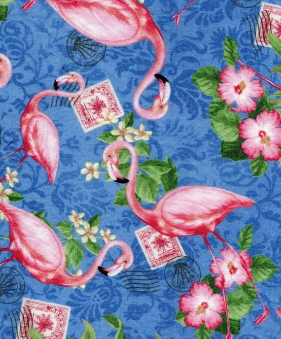 Neptune S Garden Fabric 1 3 8 Yard Pink Flamingo Fabric