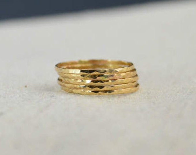 "RING SALE, ""Five-Golden-Rings"" , Cyber Monday Sale, my best price ever, Gift for Her, gold ring, gold stacking ring, jewelry Sale"