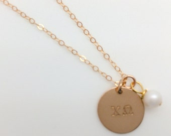 Chi Omega Gold-Filled Necklace - XO