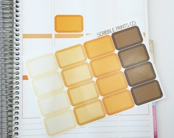 FS 50% OFF - October Dotted Half Box (16 Glossy Planner Stickers)