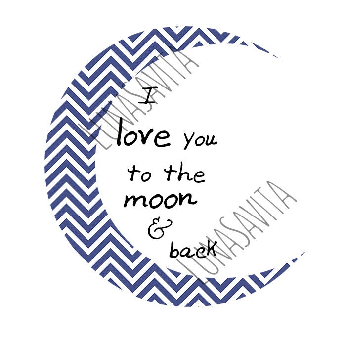 Download I love you to the moon and back quote SVG and DXF for Cricut
