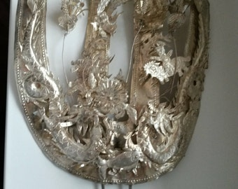 Vintage Silver Wedding Hair Ornament Comb Estate Sale