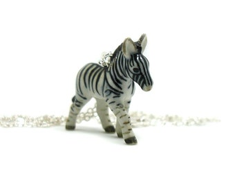 Zebra Necklace, Charm Necklace, Charm Jewelry, Zebra Pendant, Zebra Jewelry, Zebra Charm, Jewelry Gift, Wildlife Necklace, Animal Jewelry