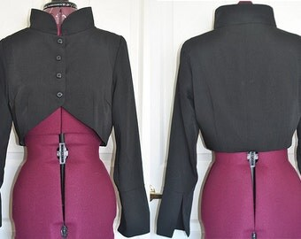 Small Victorian Mandarin Bolero Jacket - Ready to Ship