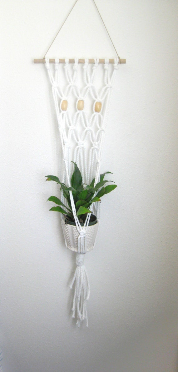 Hanging Plant Wall Decor : Macrame plant hanger wall hanging home decor