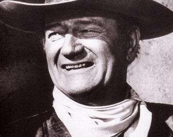 John Wayne Poster, the Duke, Iconic Actor, Cowboy, Westerns