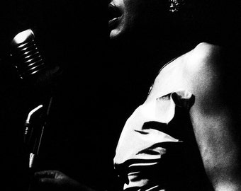 Billie Holiday Poster, Iconic Jazz Singer, Lady Day