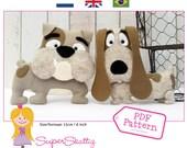 PDF pattern Bob & Eddy, felt pattern for a dog by Superskattig