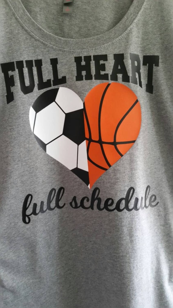 Full Heart Full Schedule Multiple Sports Mom Shirt Soccer