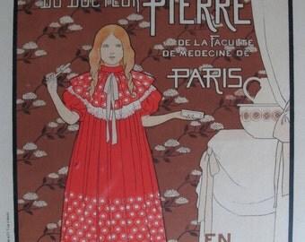 1888 Framed Maitres de L'Affiche Poster, French Vintage Art Nouveau Toothpaste Ad - Louis-Maurice Boutet De Monvel, Framed Gift Ideas