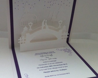 Winter Wedding Pop Up Invitation