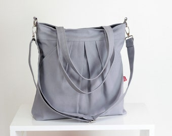 Light Gray Bag Double Straps Washable Choose Your Color Handbags Canvas Bag Diaper bag Hobo bag Handbags Tote bag Purse Everyday bag Gift