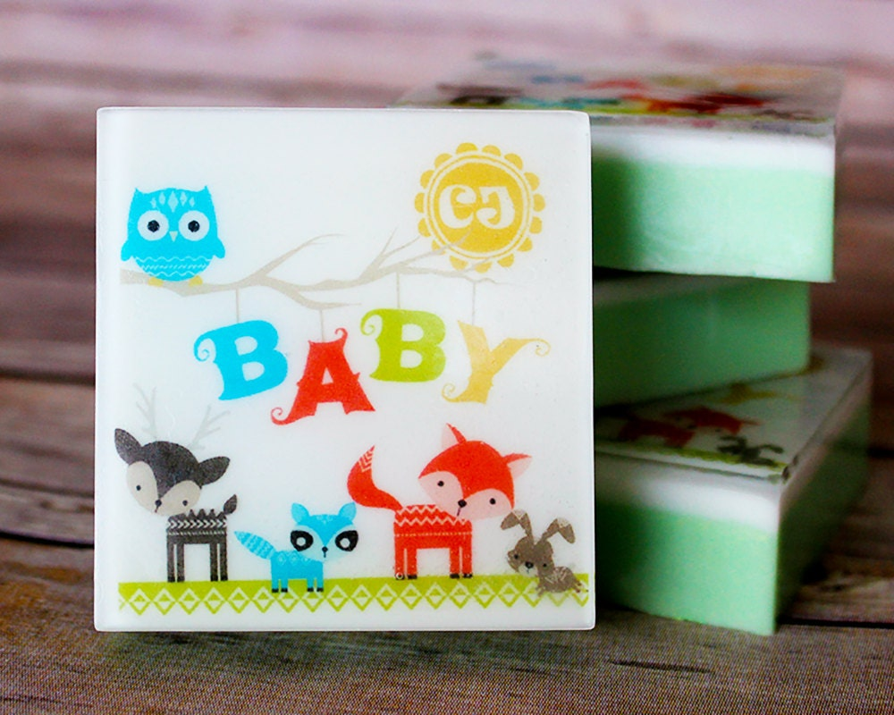 woodland baby shower soap favor set baby animal woodland
