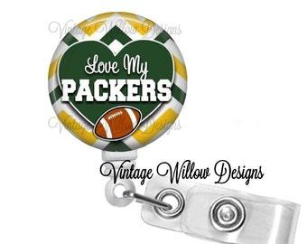Green Bay Packers Retractable ID Badge Reel