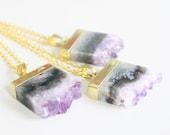 Amethyst Necklace, Boho Jewelry, Gypsy Jewelry, Amethyst Crystal, Amethyst Pendant, Layering Necklace, Bridesmaid Gift, February Birthstone