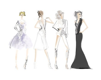 Fashion Collection Illustration Art Print