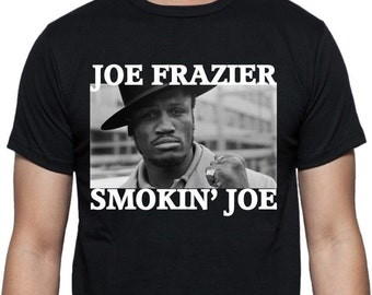 Joe Frazier Smokin' Joe Photo T-shirt - Boxing Legend, ECO FRIENDLY PRINT, S - 2XL, Various Colours
