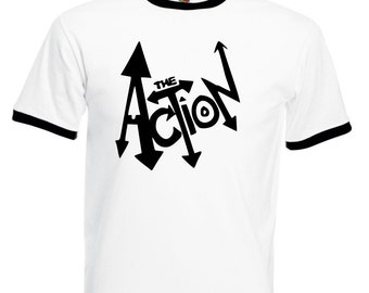 The Action Ringer T-shirt - Mod, 1960's, Band, All Sizes/Colours
