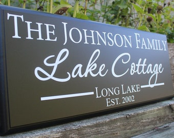 Lake Cottage Sign Lake Cottage Decor lake signs beach house sign lakeside living river sign shore house decor beach home lake cottage gift