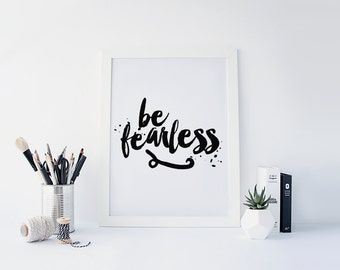 Be fearless wall art | Etsy