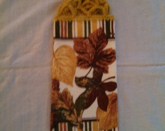 Autumn Leaves Hanging Kitchen Towel