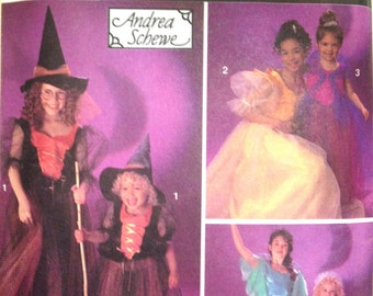Simplicity 8647 - Girl's Witch, Princess and Fairy Costume - Size 2-6